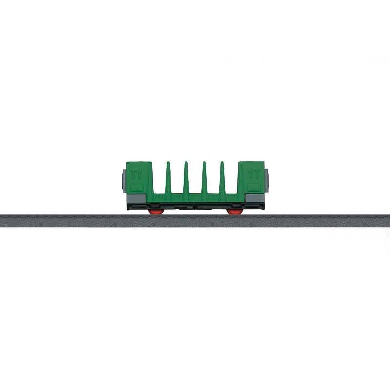 Vagón de Postes Verde HO