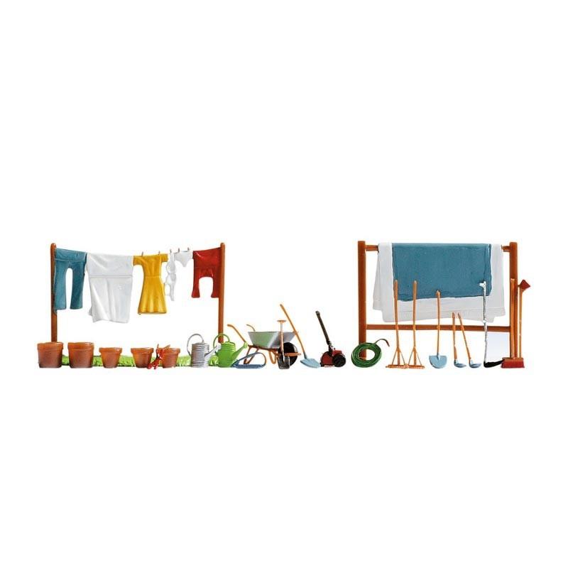 Set de Jardinería y Tendederos H0
