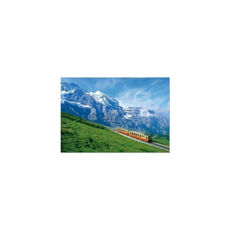14116. Puzzle Educa 1000 piezas Tren Cerca del Macizo Junfrau
