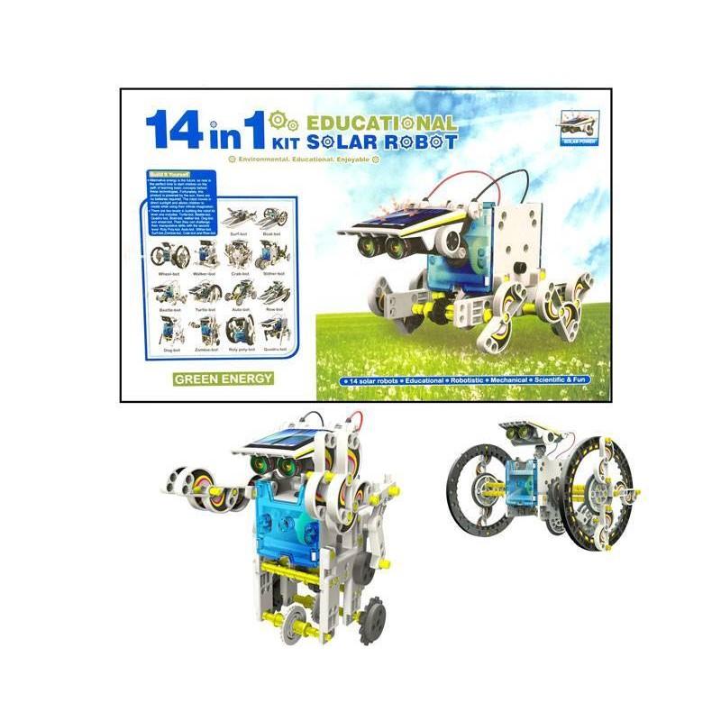 Kit construccion Robots 14 en 1. Movimiento por energía Solar