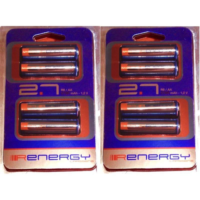 Pack 8 pilas recargables AA 2700mah. Ni-Mh. (LR6)