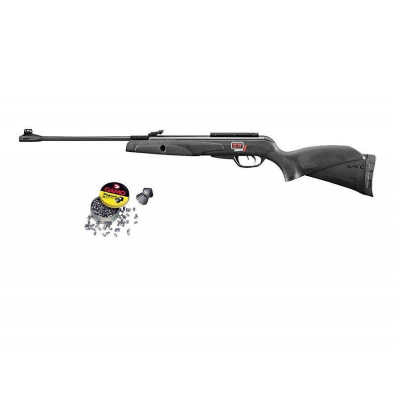 110087 Gamo. Pack Carabina perdigón BlackKnight IGT Mach 1 4,5mm