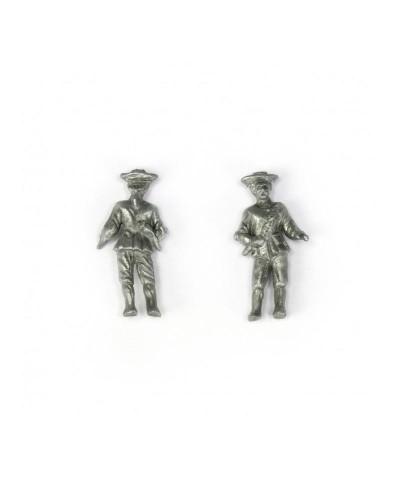 2 Figuras de Capitán 27 mm