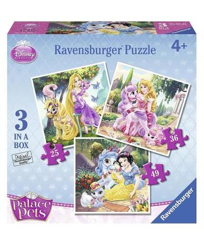 3 Puzzles Progresivos Mascotas de Princesas