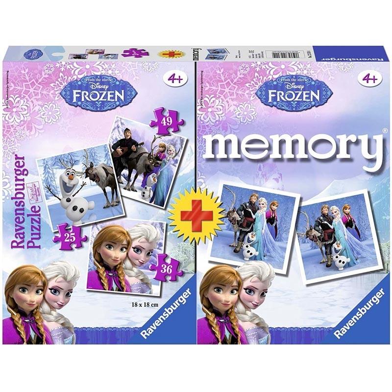 Puzzles Progresivos y Juego Memoria Frozen