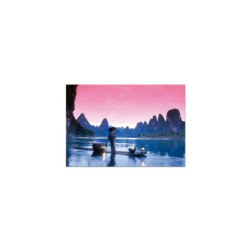14114. Puzzle Educa 500 piezas Pescando en el Rio Li, China