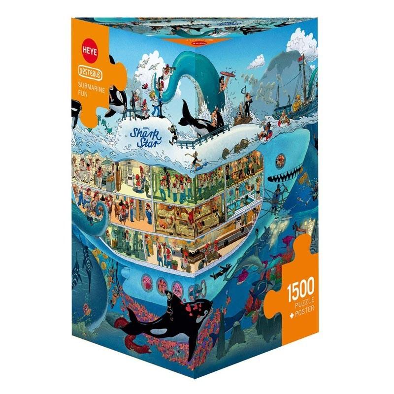 Puzzle 1500 Piezas Diversión Submarina
