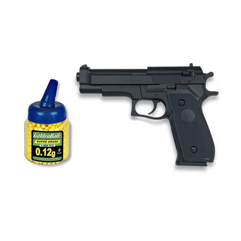 35713 Martínez. Pack Pistola airsoft HFC