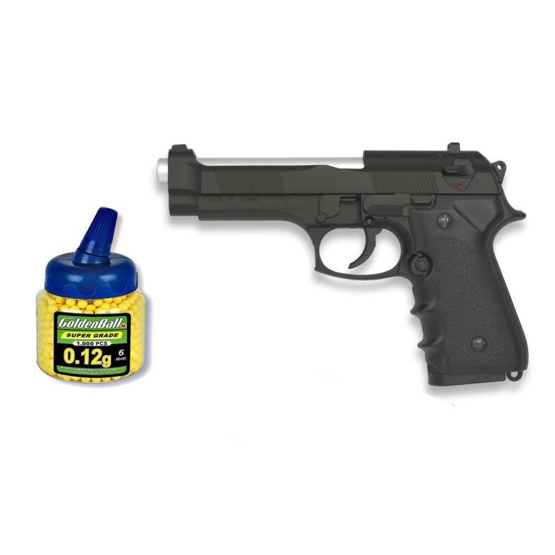 35166 Martínez. Pack Pistola airsoft M92F