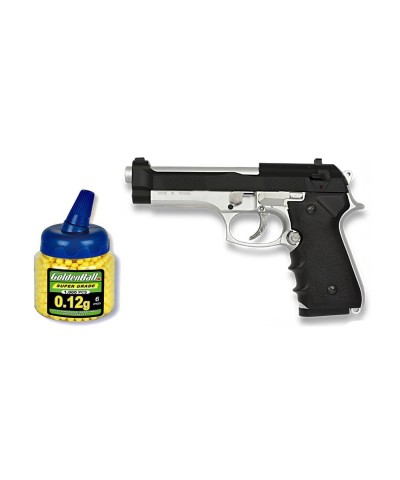 35168 Martínez. Pack Pistola airsoft M92F mixta