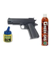 35103 Martínez. Pack Pistola airsoft de Gas HFC G16 negra