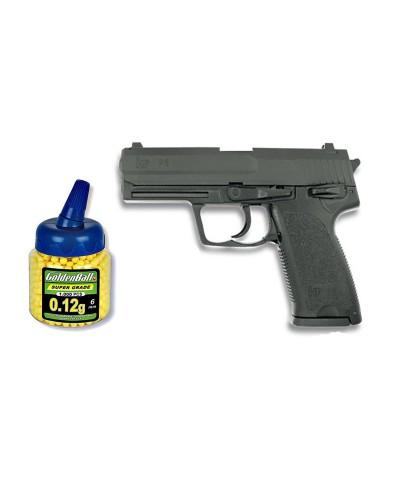 35085 Martínez. Pack Pistola airsoft HA112 negra