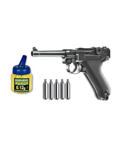 U25874 Zasdar. Pack Pistola airsoft Umarex P08 Legends Co2
