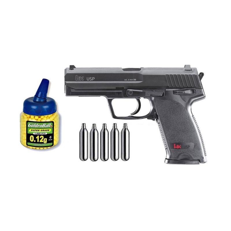 U25561 Zasdar. Pack Pistola airsoft Umarex H&K USP Co2