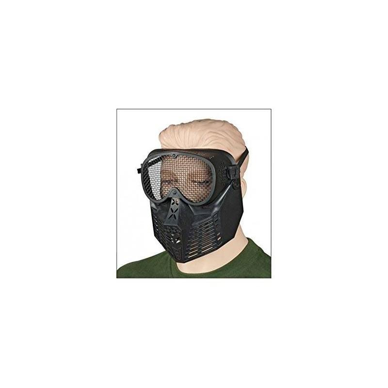 34238 Martínez. Máscara negra de protección con rejilla