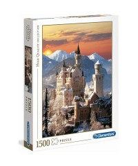 31925. Puzzle Clementoni 1500 piezas Neuschwanstein, Alemania