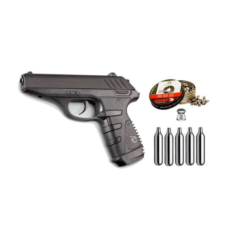 111378 Gamo. Pack pistola perdigón P-25 Blowback Cal.4,5mm