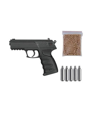 111395 Gamo. Pack pistola perdigón P-27 Dual Cal.4,5mm