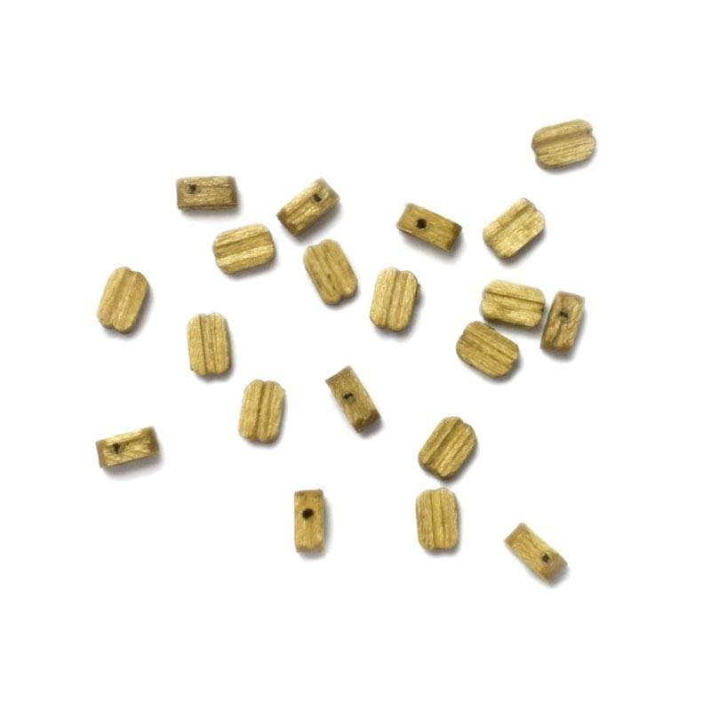 20 Motones de Nogal 3mm
