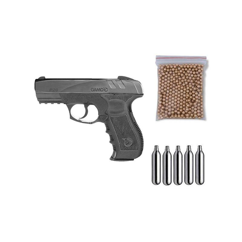 111397 Gamo. Pack Pistola perdigón GP-20 Combat Cal.4,5mm