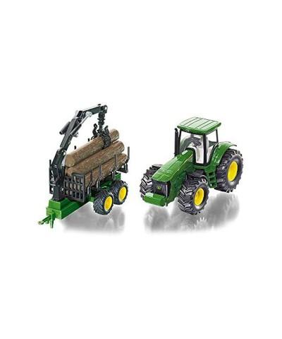 1/32 Tractor John Deere con Remolque Forestal