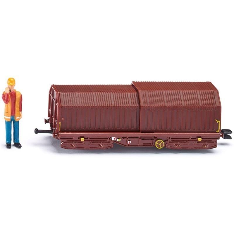 Vagón de Transporte y Trabajador