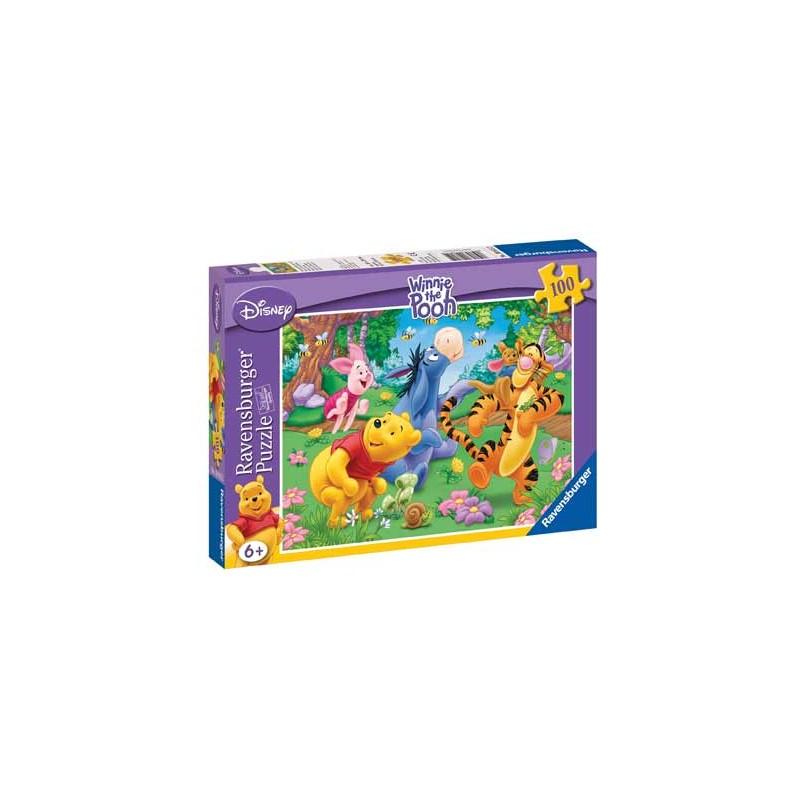 108152. Puzzle Ravensburger 100 piezas XXL,Winnie y las abejitas
