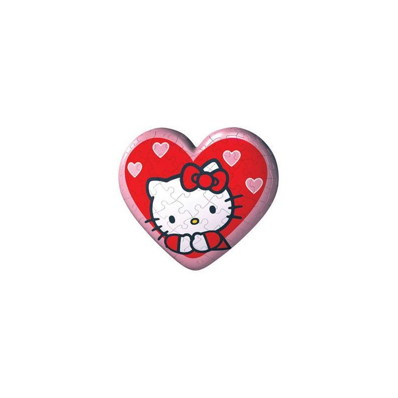 114054. Puzzle Ball 60 piezas Ravensburger, Corazon Hello Kitty