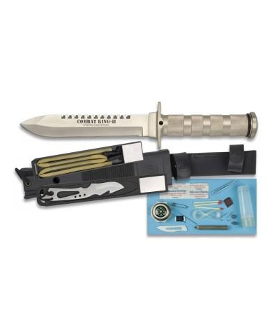32033 Martínez. Cuchillo Combat King ll Plata + Kit Accesorios