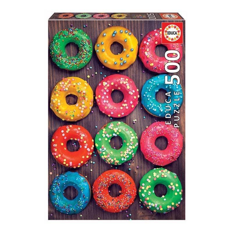 Puzzle 500 Piezas Donuts de Colores