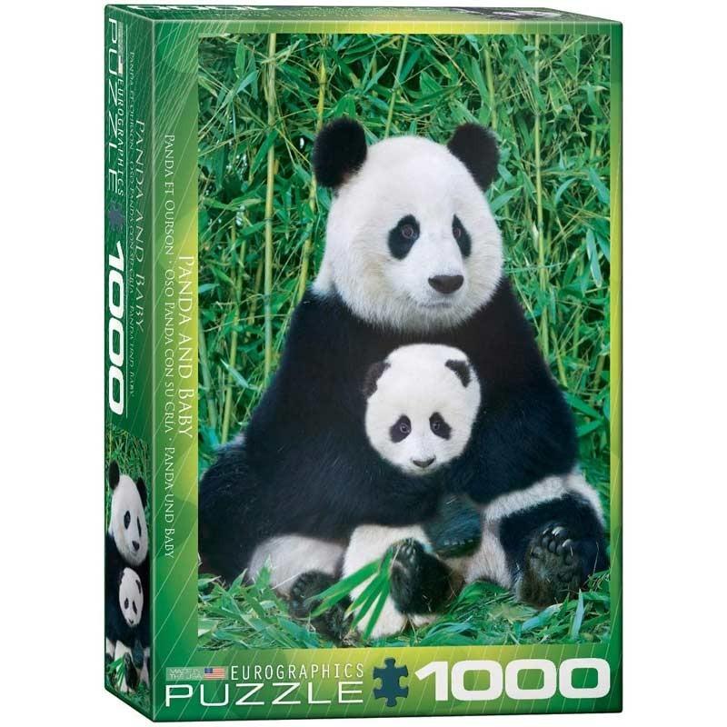 Puzzle 1000 Piezas Oso Panda y Cría