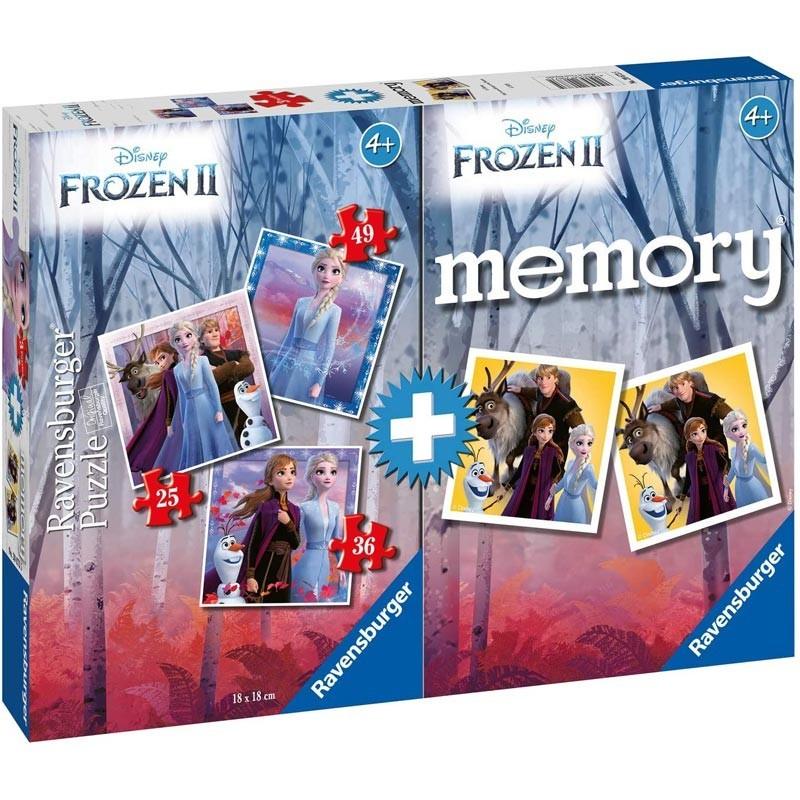 Puzzles Progresivos y Juego Memoria Frozen II