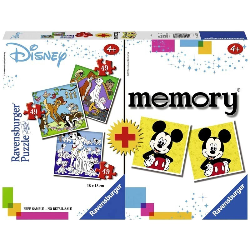 Puzzles Progresivos y Juego Memoria Disney