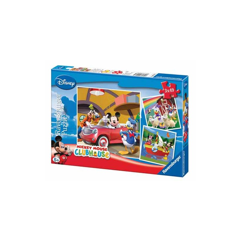 92475. Puzzle Ravensburger 3x49 piezas, Todos quieren a Mickey