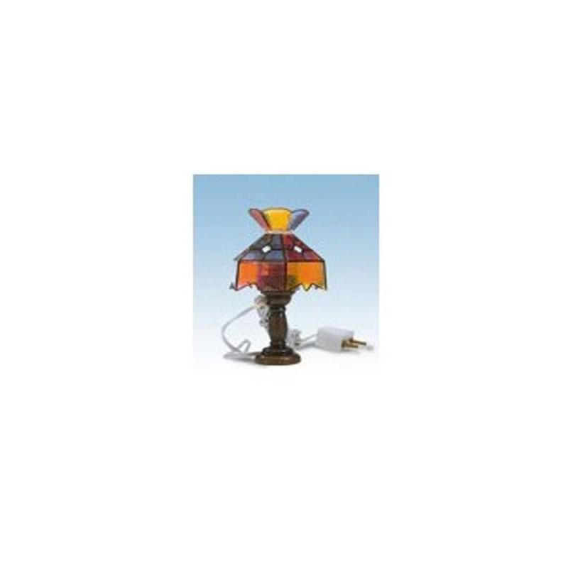 12980 Artesanía Latina. Lámpara sobremesa Tiffany multicolor