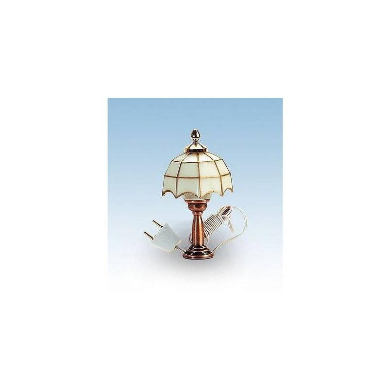 12977 Artesanía Latina. Lámpara Tiffany Blanca