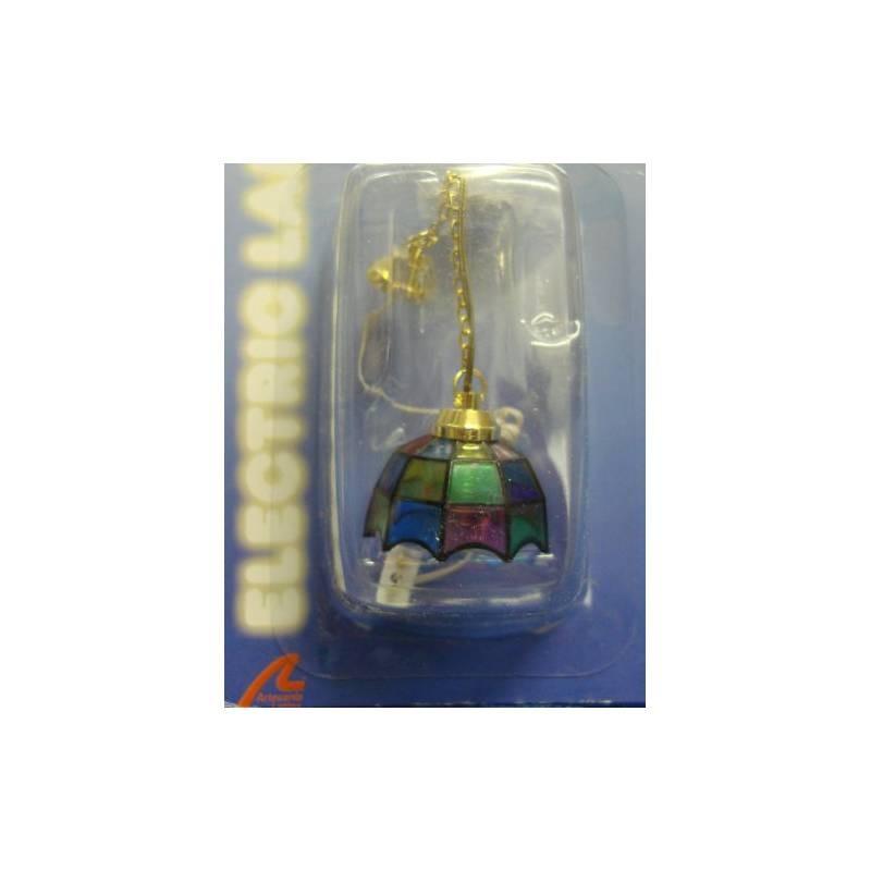 12956 Artesanía Latina. Lámpara de Techo Tiffany Multicolor