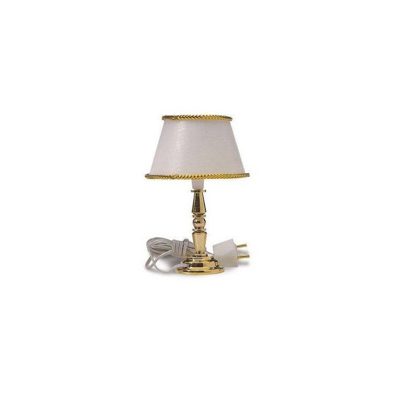 12759 Artesanía Latina. Lámpara Clásica de Sobremesa Blanca