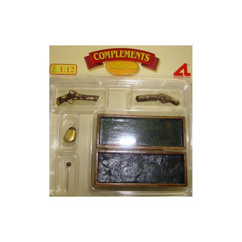 12641 Artesanía Latina. Pack 2 Pistolas Duelo en Cofre