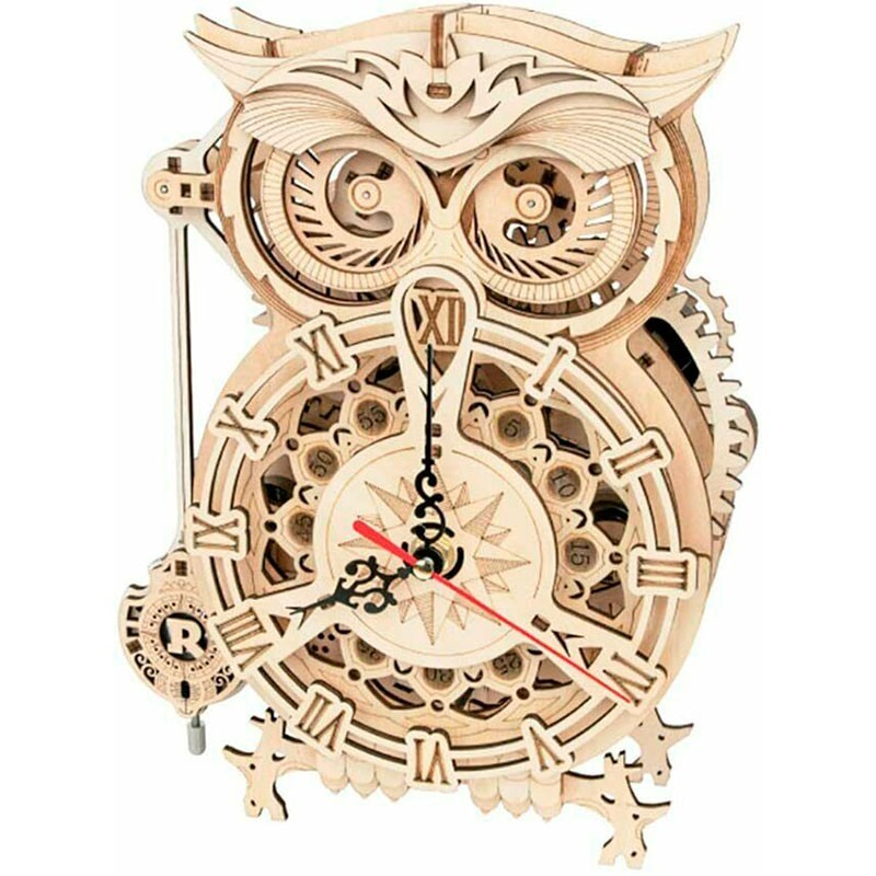 Puzzle de Madera 161 Piezas Reloj de Búho