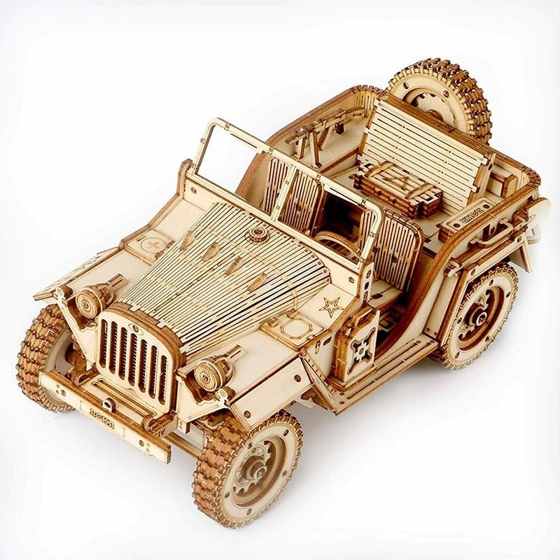 Puzzle de Madera 369 Piezas Vehículo Militar 1/18