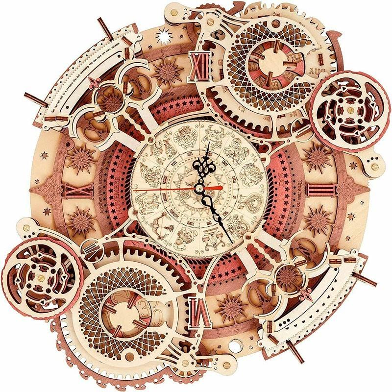 Puzzle de Madera 168 Piezas Reloj Pared Signos del Zodiaco