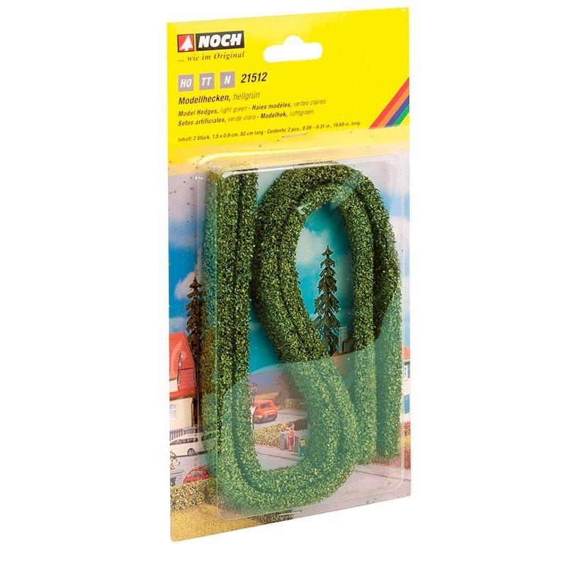 2 Tiras Setos Artificiales Verde Claro 1.5x0.8cm