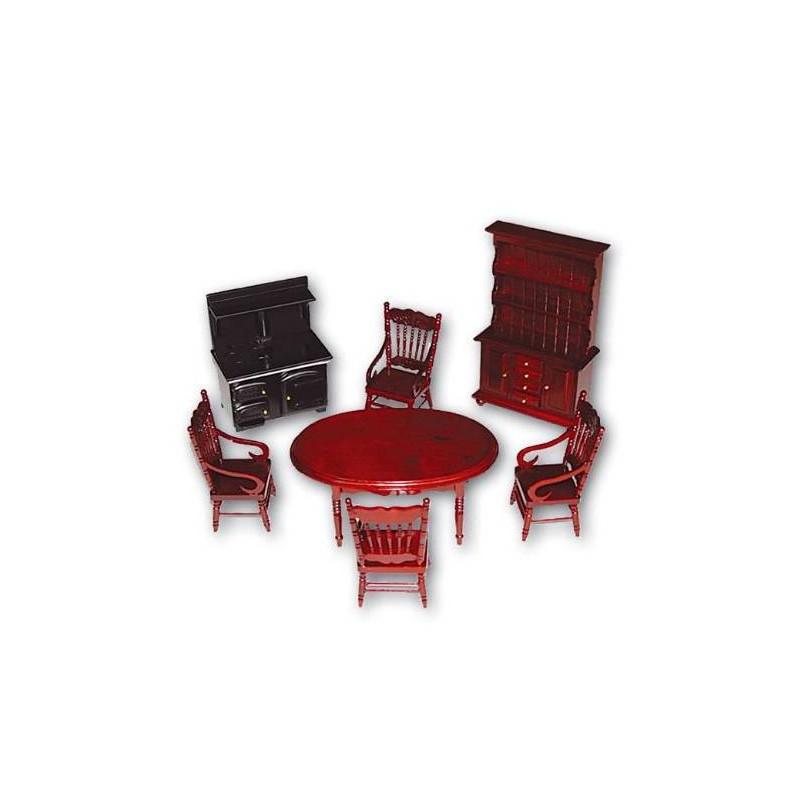 36115 Chaves. Conjunto muebles Cocina de Campo 7 piezas