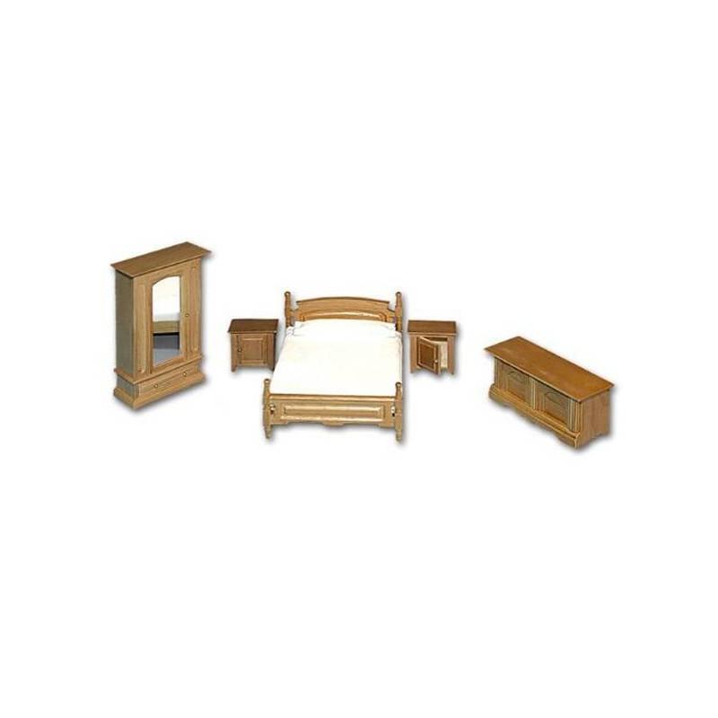 36125 Chaves. Conjunto Muebles Dormitorio Rústico