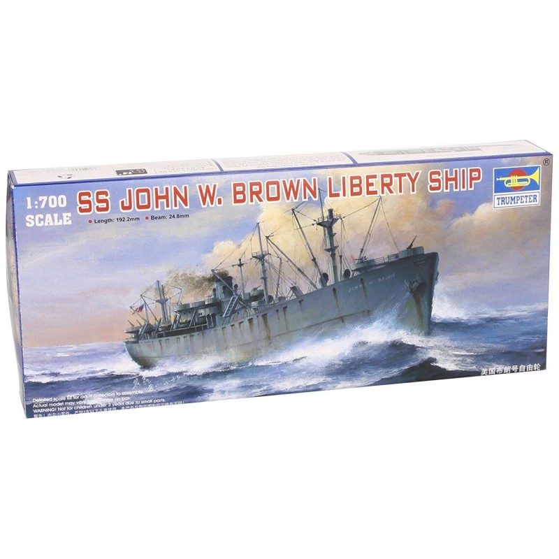 545756 Trumpeter. 1/700 SS John W. Brown Liberty Ship