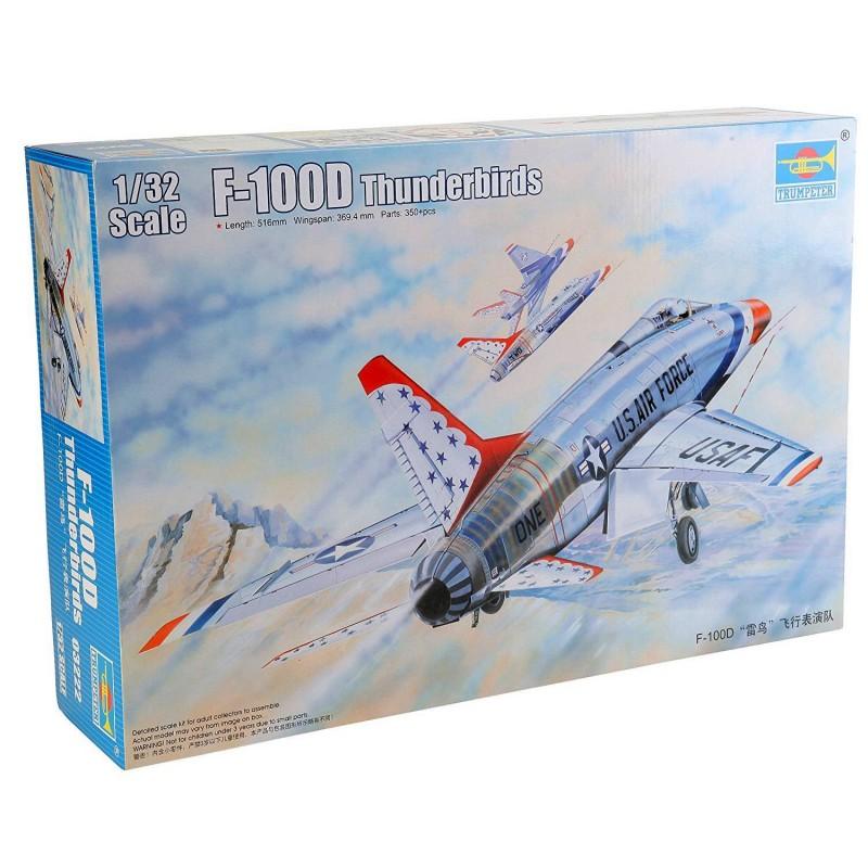 543222 Trumpeter. 1/32 F-100D Thunderbirds