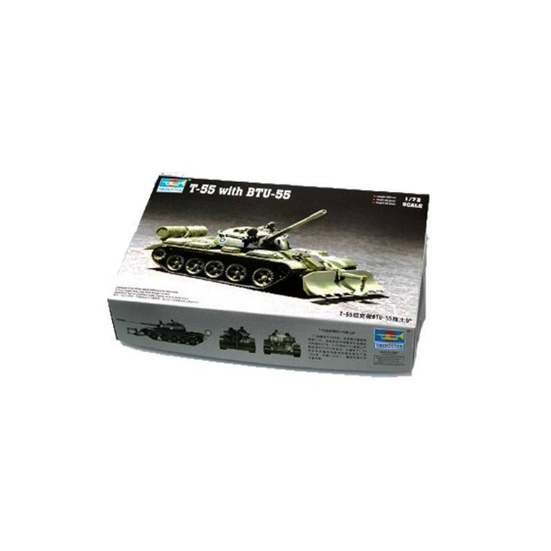 547284 Trumpeter. 1/72 T-55 with BTU-55
