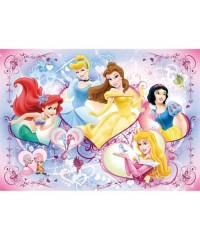97692. Puzzle Ravensburger 125 piezas XXL, Princesas Felices