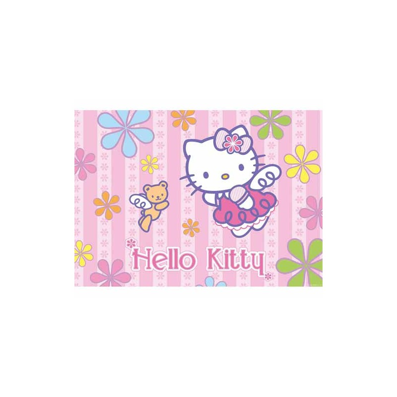 52615. Puzzle Ravensburger 24 piezas, Hello Kitty: Mar de Flores